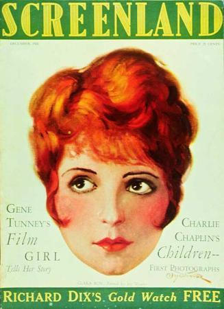 Clara Bow - Screenland Magazine Cover 1920's