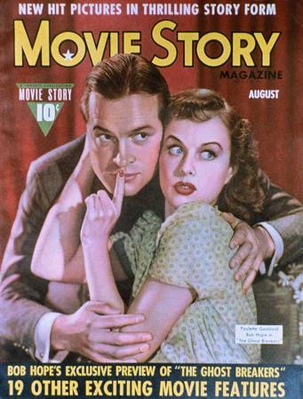 Goddard, Paulette - Movie Story Magazine Cover 1940's