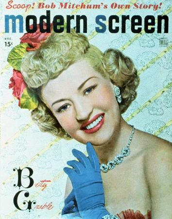 Betty Grable - Modern Screen Magazine Cover 1940's
