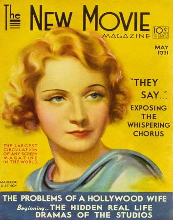 Marlene Dietrich - The New Movie Magazine Cover 1930's