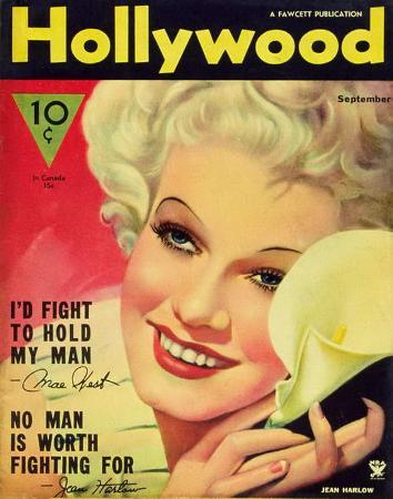 Jean Harlow - Hollywood Magazine Cover 1940's
