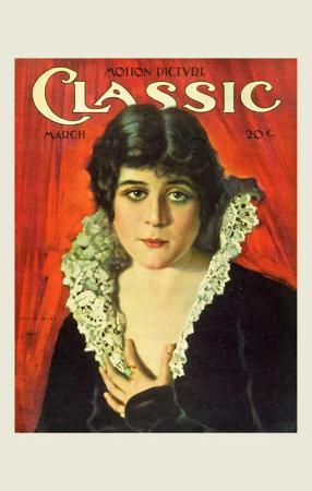 Theda Bara - Motion Picture Classic Magazine Cover 1920's