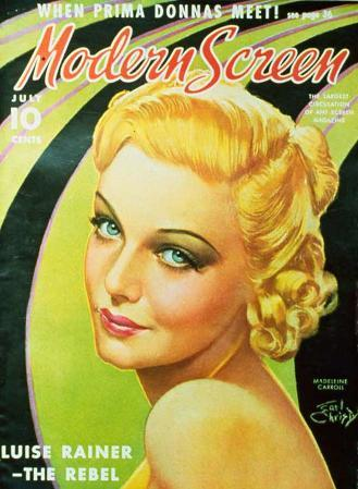 Carroll, Madeleine - Modern Screen Magazine Cover 1930's