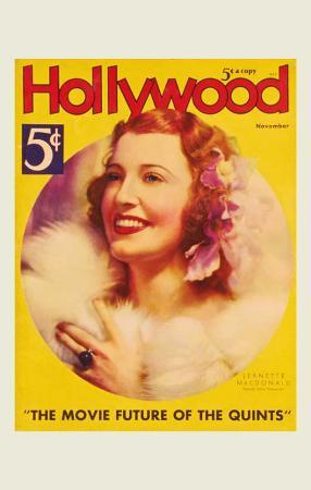 MacDonald, Jeanette - Hollywood Magazine Cover 1930's