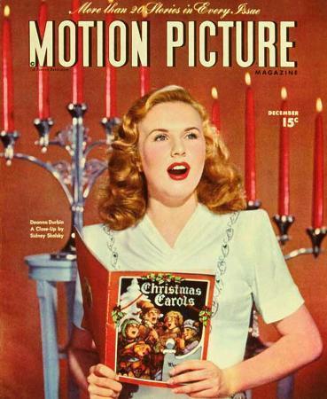 Deanna Durbin - Motion Picture Magazine Cover 1930's