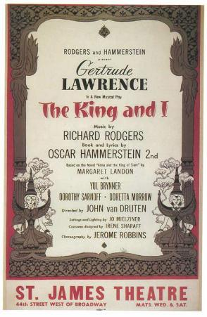 King And I, The - Broadway Poster , 1951