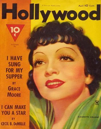 Claudette Colbert - HollywoodMagazineCover1940's