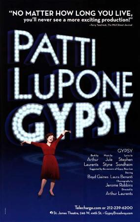 Patti Lupone Gypsy - Broadway Poster