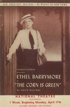 Corn is Green - Broadway Poster , 1941