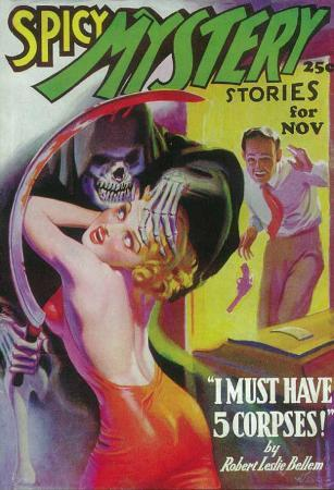 Spicy Mystery Stories - Pulp Poster, 1936
