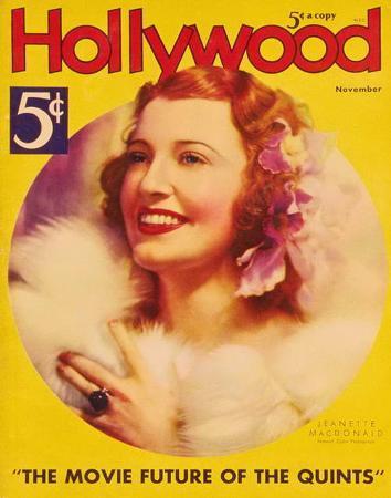 MacDonald, Jeanette - HollywoodMagazineCover1940's