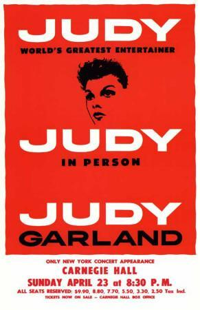 Judy In Person - Broadway Poster