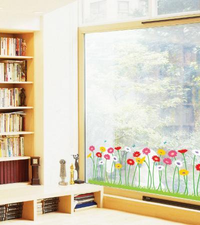 Growing Flowers Window Decal Sticker