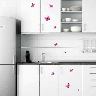 Flock of Vibrant Pink Fuschia Butterflies