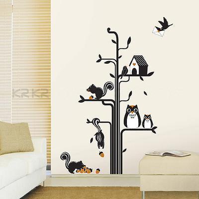 Owls Squirrels Tree