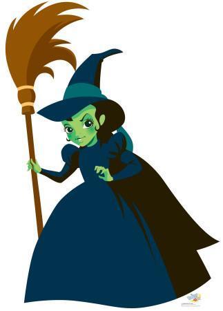 Kids Wizard of Oz - Wicked Witch Lifesize Standup
