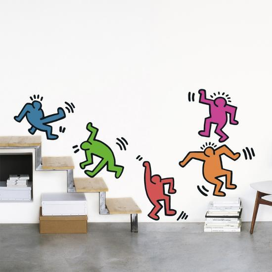 five dancing figures wall decalkeith haring at allposters