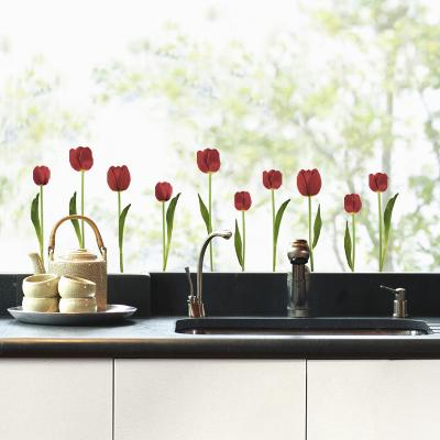 Red tulips (Window Decal)