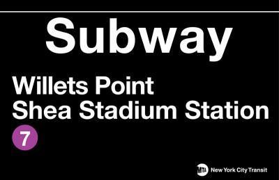 New York- Shea Stadium Metal Sign