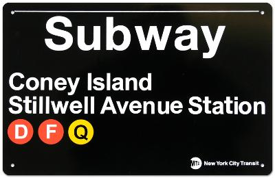 New York- Coney Island Metal Sign