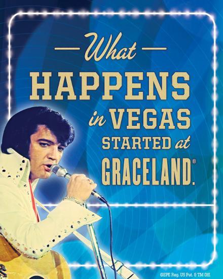 Elvis Happens in Vegas Tin Sign at AllPosters.com What Happens In Vegas Logo