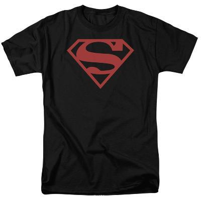 Superman-Red On Black Shield