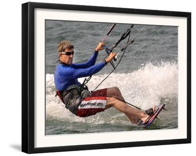 Democratic Presidential Candidate Sen. John Kerry, D-Mass., Kite Surfs