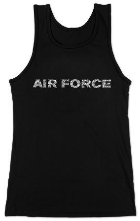 Women's: Tank Top - Lyrics To The Air Force Song
