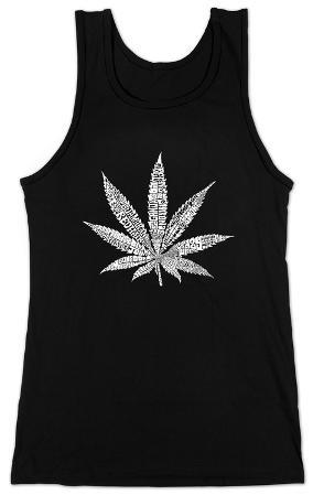 Womens: Tank Top - Marijuana Leaf (Slim Fit)