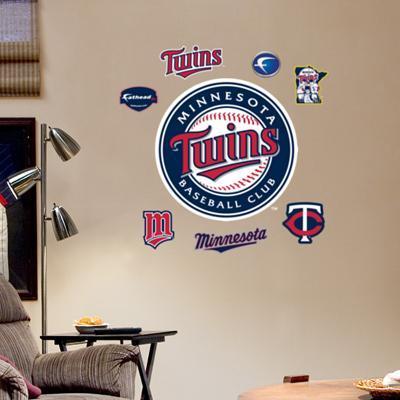 Twins 2010 Season Logo - Fathead Junior