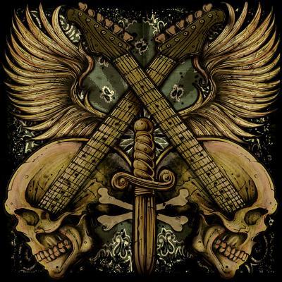 Guitar Skulls