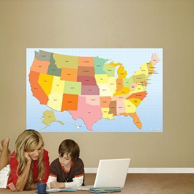 USA Map Dry Erase
