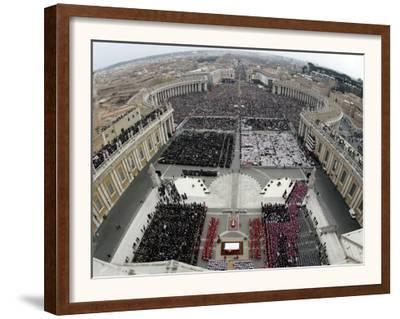 Crowds Pack St. Peter's Square at the Vatican