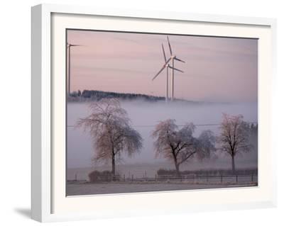 Wind Generators in Eifel Region Mountains Near Hallschlag, Germany, December 29, 2006