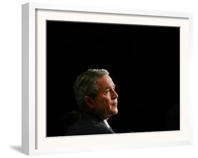 President Bush Listens to Statements
