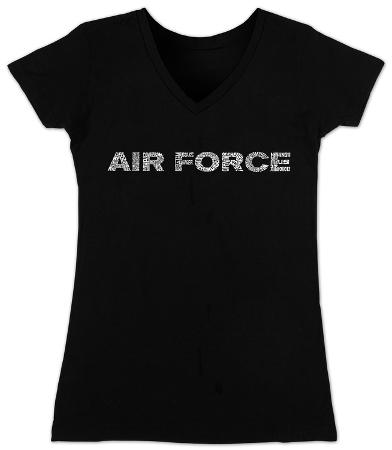 Women's: V-Neck- Lyrics To The Air Force Song