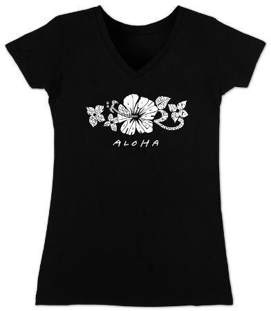 Women's: V-Neck- Aloha