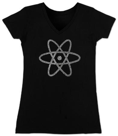 Women's: V-Neck- Atom out of the Periodic Table