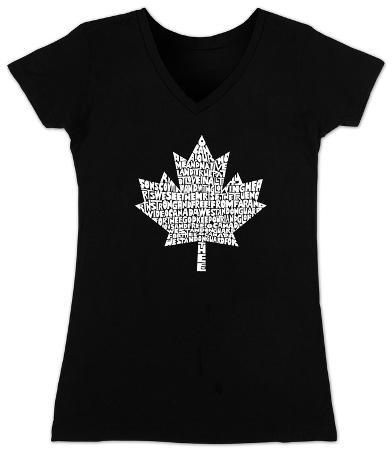 Women's: V-Neck- Canada National Anthem