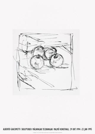 Four Framed Apples