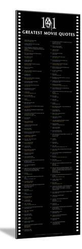 101 GREATEST MOVIE QUOTES POSTER RARE NEW HOT 24X36
