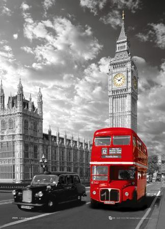 London - Big Ben & Bus