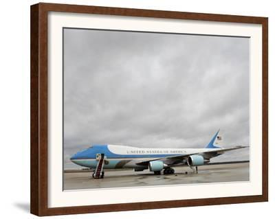 Air Force One Awaits the Arrival of President Barack Obama at Andrews Air Force Base