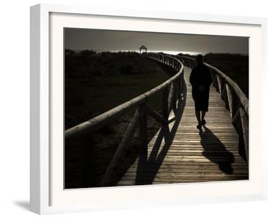 Along a Wooden Track During a Walk to the Beach in Village of Zahara De Los Atunes, Southern Spain