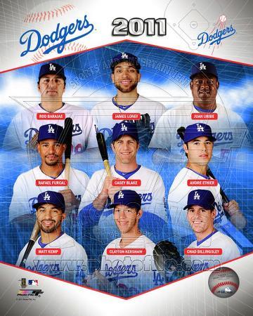 Los Angeles Dodgers 2011 Team Composite