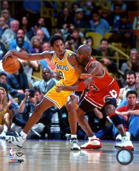 NBA Michael Jordan & Kobe Bryant 1998 Action Photo At