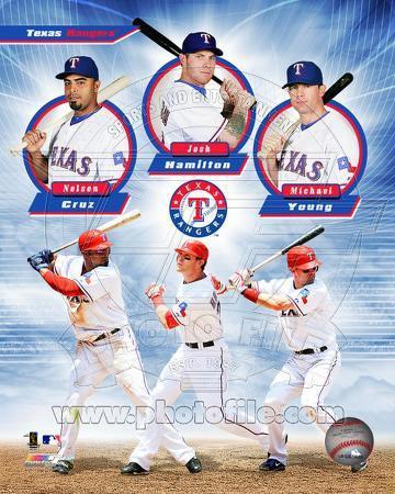 Texas Rangers 2011 Triple Play Composite