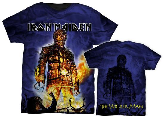 aff88fd7 Iron Maiden - Wicker Man T-Shirt at AllPosters.com