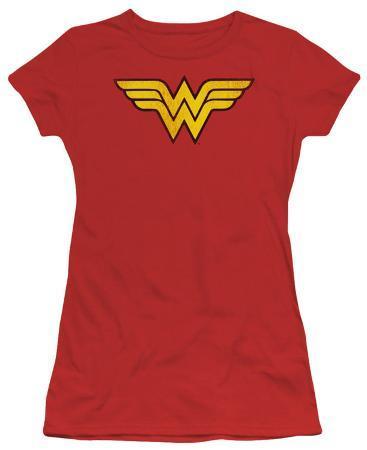 Juniors: DC-Wonder Woman Logo Distressed