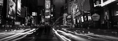 View Along Times Square at Night, New York